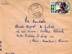 Congo (Brazaville), Nice Cover From SEMBE, 13.07.1962, Yvert # 135, VFU - Congo - Brazzaville