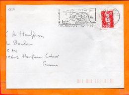 EURE, Les Andelys, Flamme SCOTEM N° 5624, Chateau Gaillard, Port De Plaisance - Poststempel (Briefe)