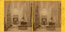 PHOTO   STEREOSCOPIQUE -   ROUEN -   Intérieur De L'Eglise Saint Ouen - Vue Prise Du Choeur - Fotos Estereoscópicas
