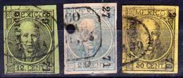 MEXIQUE - MEXICO - COLLECTION D'ANCIENS - 1868 N° 44 à 46 - Oblitérés - Mexique