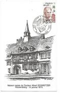 OBLITERATION COMMEMORATIVE DOCTEUR SCHWEITZER 1975 - Storia Postale