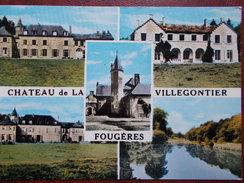 35 - FOUGÈRES - Château De La Villegontier. (Multivues) CPSM - Fougeres