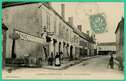 Saint Mards En Othe - Aube - Rue De La Foire Aux Chevaux - Hôtel Du Cheval De Bronze  - Animée - - Troyes
