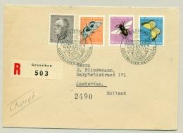 Schweiz - 1950 - Pro Juventute, 4 Stamps On R-cover From Grenchen To Amsterdam / Nederland - Schweiz