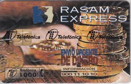P-309 TARJETA TELEFONICA DE ESPAÑA DE RASAM-EXPRESS DE TIRADA 4000 NUEVA-MINT EN BLISTER ¡VALOR FACIAL!! (MONEDA-COIN) - Sellos & Monedas