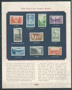 VERINIGTE STAATEN ETATS UNIS USA 1935 National Parks Imperf SET 10 V. PANE SC 756-65 YV 328-337 Type B MI 363-72B SG 755