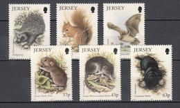 Jersey 1999,6V,hedgehog,squirrel,bat,bank Vole,shrew,common Mole,MNH/Postfris(A3144)