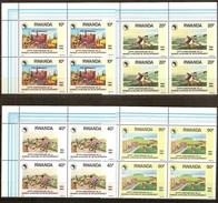 Rwanda Ruanda 1990 Yvert 1297-1300 OCBn° 1364-1367 *** MNH 4 Series Cote 24 Euro - Rwanda