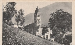 10590) COURMAYEUR CHIESA PARROCCHIALE CAMPANILE ROMANICO NON VIAGGIATA 1920 CIRCA RARA - Italia