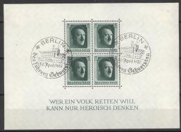 Deutsches Reich Block 7 O Sonderstempel Berlin