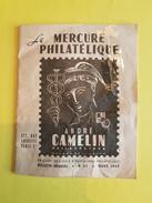 Mars 1944 Le Mercure Philatélique Par André CAMELIN / Bulletin Mensuel N°37 (24 Pages)   (REF 111) - Collections