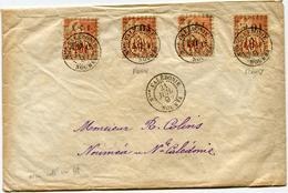 NOUVELLE-CALEDONIE LETTRE AFFRANCHIE AVEC 2 X LE N°13 ET 2 X LE N°13a DEPART Nlle CALEDONIE 21 JUIL 92 NOUMEA POUR..... - Neukaledonien