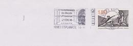 Escrime : Flamme Nîmes Esplanade (Gard) Championnats Du Monde D'escrime Du 25/10 Au 1er/11 2001