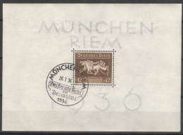 Deutsches Reich Block 4 O Sonderstempel