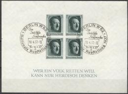 Deutsches Reich Block 8 O Sonderstempel Briefmarkenaussstellung Berlin Winziger Eckbug