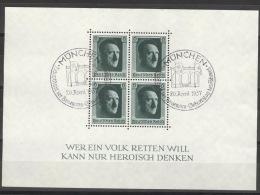 Deutsches Reich Block 7 O Sonderstempel München