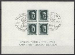 Deutsches Reich Block 8 O Sonderstempel Briefmarkenaussstellung Hamburg