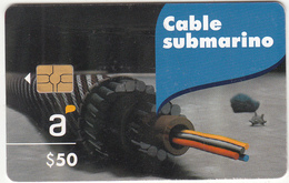 URUGUAY - Cable Submarino(541a), Chip GEM3.1, Tirage 30000, 04/12, Used