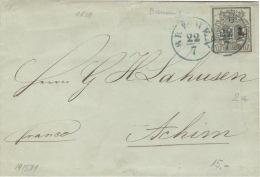 Hannover 2a Auf Brief Einkreisstempel Bremen