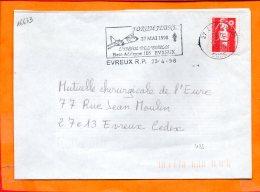 EURE, Evreux, Flamme SCOTEM N° 16673, Forum Jeune, L'envol De L'emploi, 27 Mai 1998 - Oblitérations Mécaniques (flammes)