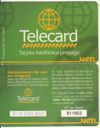 URUGUAY - Antel Promotion Prepaid Card, Used