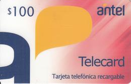 URUGUAY - Antel Magnetic Recharge Prepaid Card $100, Mint