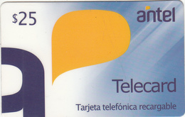 URUGUAY - Antel Magnetic Recharge Prepaid Card $25, Mint