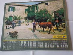 Almanach Du Facteur. Moisson, La Ferme, Avec Différentes Rubriques à L'intérieur - Kalender