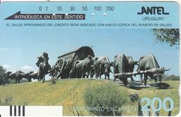 URUGUAY(Tamura) - Monumento La Carreta, First Issue 200 Units, 07/88, Used