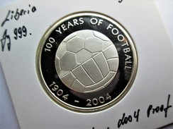 Liberia, 10 Dollars, 2004 ,100 Years Of Football - Liberia