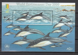 Jersey 2000,1V In Block,dolphins,dolfijnen,delphine,dauphins,delfines,delfini,MNH/Postfris(L2980) - Dauphins