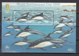 Jersey 2000,1V In Block,dolphins,dolfijnen,delphine,dauphins,delfines,delfini,MNH/Postfris(L2980)
