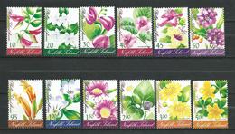 Norfolk Island 2002 Flowers Of Phillip Island.12 V.full Seriall.MNH