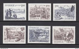 SUECIA 1984 - ANTIGUAS CIUDADES EN SUECIA - YVERT Nº 1274-1279**