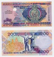 1995 // VANUATU // ISSUE LIMITED // Sérial AAOO //  200 VATU // UNC - Vanuatu