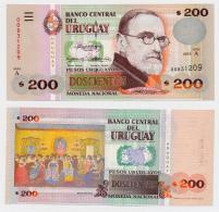 1995/96 // URUGUAY // 200 PESOS // UNC - Uruguay