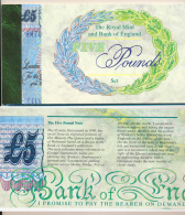 1996 // BANK OF ENGLAND // FIVE POUNDS // ISSUE LIMITED // UNC - [ 6] Conmemorativas