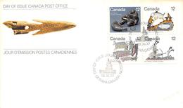 CANADA - Lettre FDC - Premier Jour - 1977 - Jour D'émission Postes Canadiennes - 18 Novembre 1977 - Bloc 4 Timbres - First Day Covers