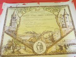 Diplôme/ Certificat D'Etudes Primaires Elémentaires/Education Nationale/Poitiers/Châteauroux/Indre/DEBELLE/1958  DIP164 - Diplomi E Pagelle