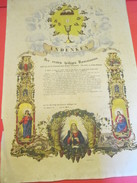 Diplôme/ De Premiére Communion/Andenken/OBERHASLACH/Bas Rhin/Alsace-Allemagne/ Eberlé/1877  DIP165 - Diplomi E Pagelle