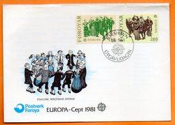 SUEDE  FOLKLORE  DANSE  EUROPA  1981   Lettre Entière N° DD 235