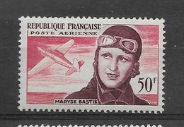FRANCE 1955  Maryse Bastié POSTE AERIENNE YT 34  Neuf** Cote 2015 = 8.00  € à  30 %