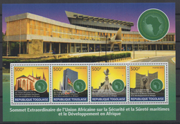 Togo 2016 - Mi. ? Sommet Union Africaine Africa Map Flag Drapeau Fahne 15 Octobre OFFICIAL Local Issue ** - Geografia