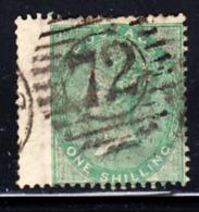Great Britain Used #28 1sh Victoria Cancel 72 Wing Margin - 1840-1901 (Victoria)