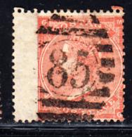 Great Britain Used #34 4p Victoria Position MG Cancel 85 Wing Margin - 1840-1901 (Victoria)