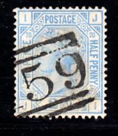 Great Britain Used #68 2 1/2p Victoria Plate 20 Position JI - 1840-1901 (Victoria)