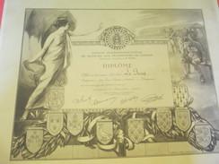 Diplôme/Automobile Club De L'Ouest/Comité Interdépart. Secours Aux Prisonniers De Guerre/Le PECQ/Laval/1918       DIP167 - Diplomi E Pagelle