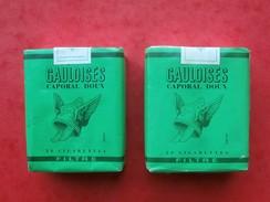 COLLECTION 2 Paquets De GAULOISES VERTES Filtre Caporal Doux JACNO - Autres
