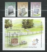 Norfolk Island 2008 Jewish Cemetery - Norfolk.stamps And Block.MNH