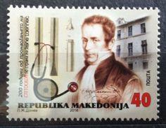 Macedonia 2016 Rene Laennec Stetoscope MNH - Macédoine